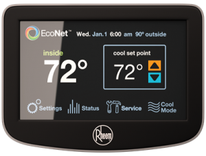 EcoNet Control Center Programmable Thermostat