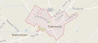 fleetwood pa map